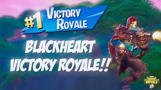 Solo Victory With BLACKHEART Skin!! Fortnite Battle Royale