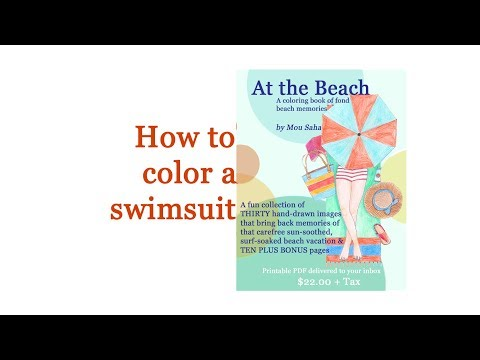my life in collage tutorial how to color a swim suit