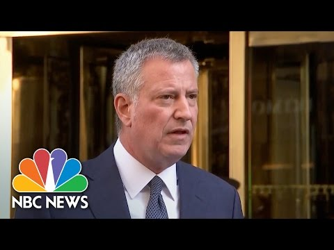 Bill DeBlasio: I Told Donald Trump I Would Be 'Open-Minded' But 'Vigilant' | NBC News