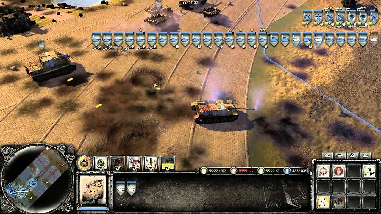 Coh2 Kingtiger And Jagdtiger Attack Unlimited Resources Youtube