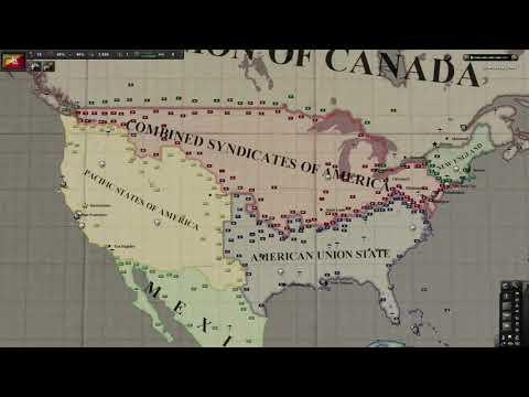 American Civil War Timelapse - HOI4 Kaiserreich |