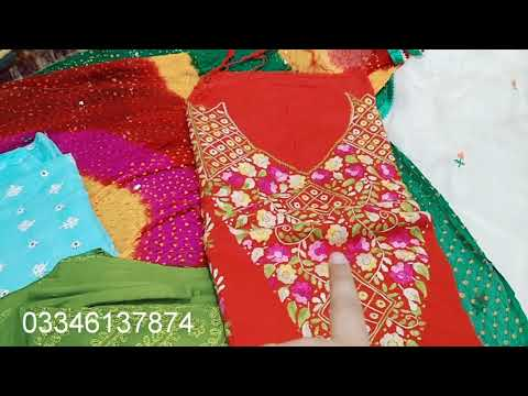 HUGE VARIETY OF GOTTA AND  EMBROIDERED MULTANI SUITS| UNEDITED VIDEO