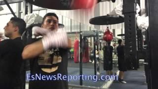 Josesito Lopez on Speed Bag - EsNews Boxing