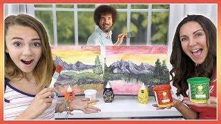 Painting A Bob Ross Tutorial Using Frosting   Kayla Davis