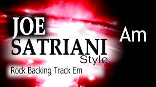 Rock Guitar Backing Track Joe Satriani Style #2  Em 137bpm