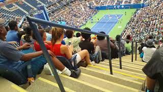 US Open  Authur  Ashe kids day  2017  Vaibhavi watching  Roger Federer, Venus Williams