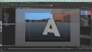 Autodesk Maya Tutorial - How To Create Cascading Text Effect