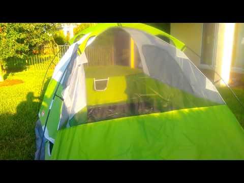 Coleman Sundome 4 Person Tent Setup & Review