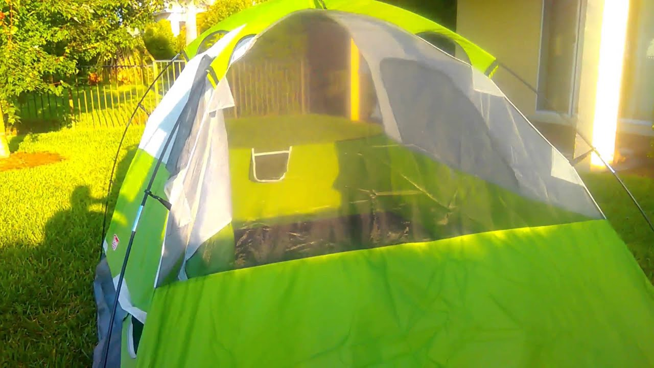 & Coleman Sundome 4 Person Tent Setup u0026 Review - YouTube