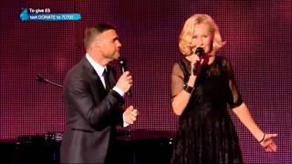 "Gary Barlow and Agnetha Fältskog ""I Should've Followed You Home"" Live"