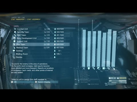 MGSV Level Up A Unit Instantly