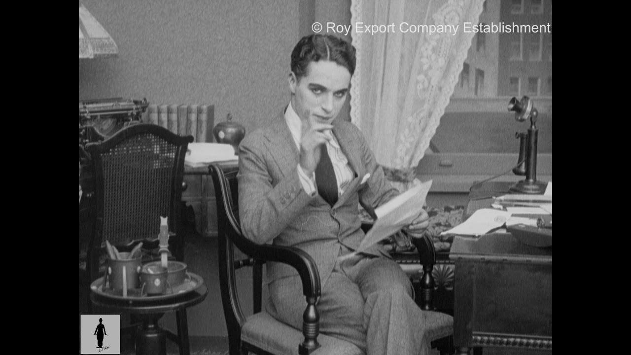 Charlie Chaplin Reading Fan Mail – Rare Archival Footage