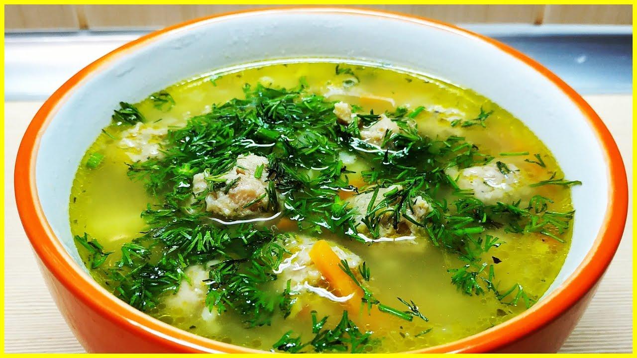 Суп с фрикадельками и гречкой//Рецепт вкусного супа с фрикадельками//Что приготовить из фарша