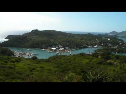 Antigua - From Dow Hill Of Shirley Heights, English Harbour, Nelson's Dockyard, and Falmouth Bay