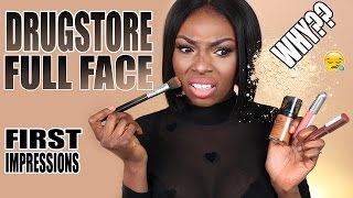 DRUG STORE FULL FACE FIRST IMPRESSIONS USING ONE BRAND
