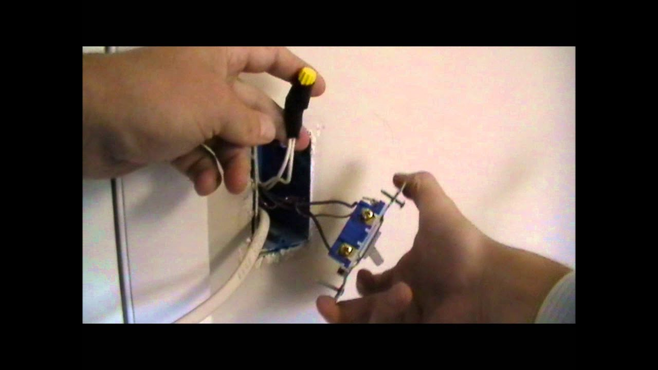 how to wire an outlet off of a switch - YouTube