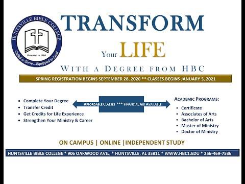 Huntsville Bible College Spring 2021