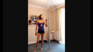 Butterfly to brass monkey  pole dance practice