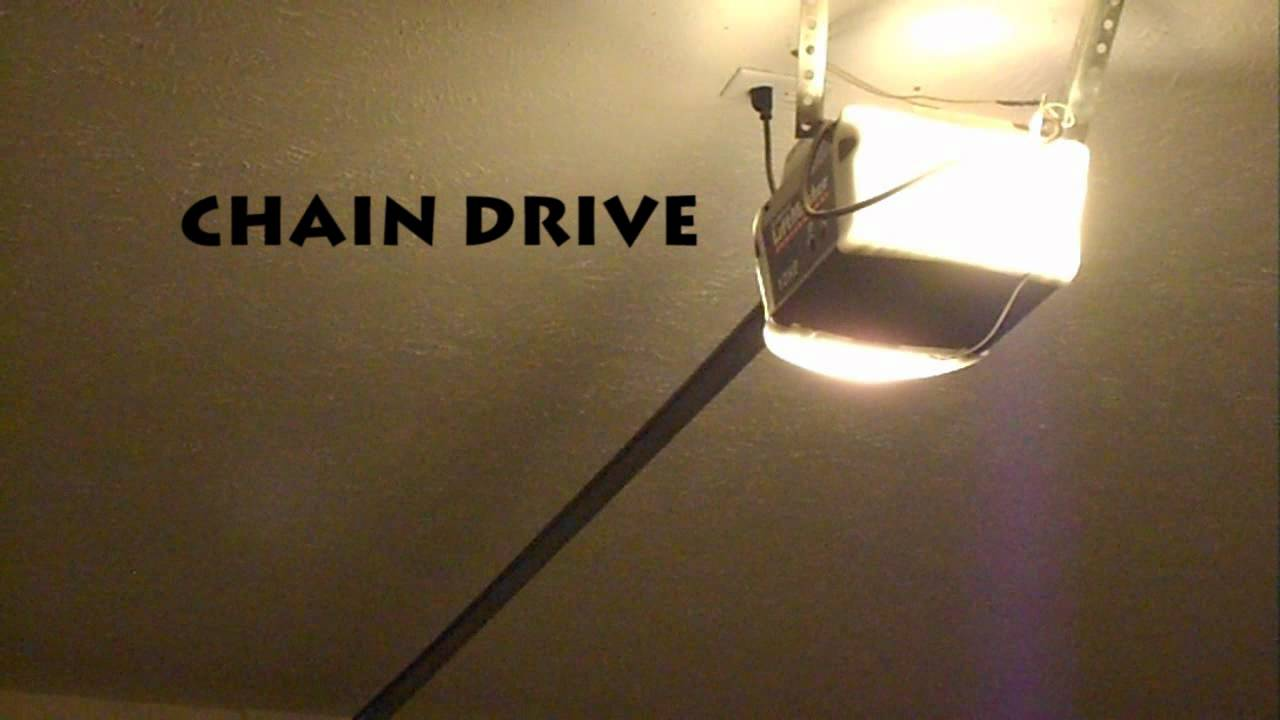 Quiet garage door opener chain vs belt youtube rubansaba