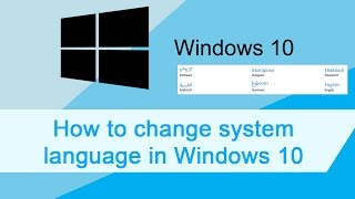 Windows 10 change system language