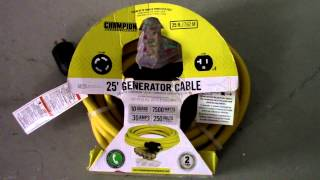 Champion 48036 Generator Power Cord Review and Demonstration