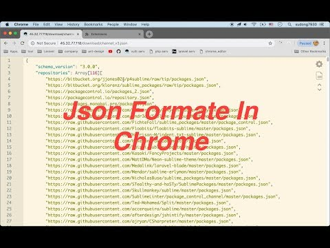 Google Chrome Extension Json