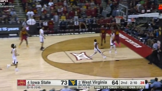 Iowa States Deonte Burton Catches A ALLEY-OOP and Throws It Down On A West Virginia Player