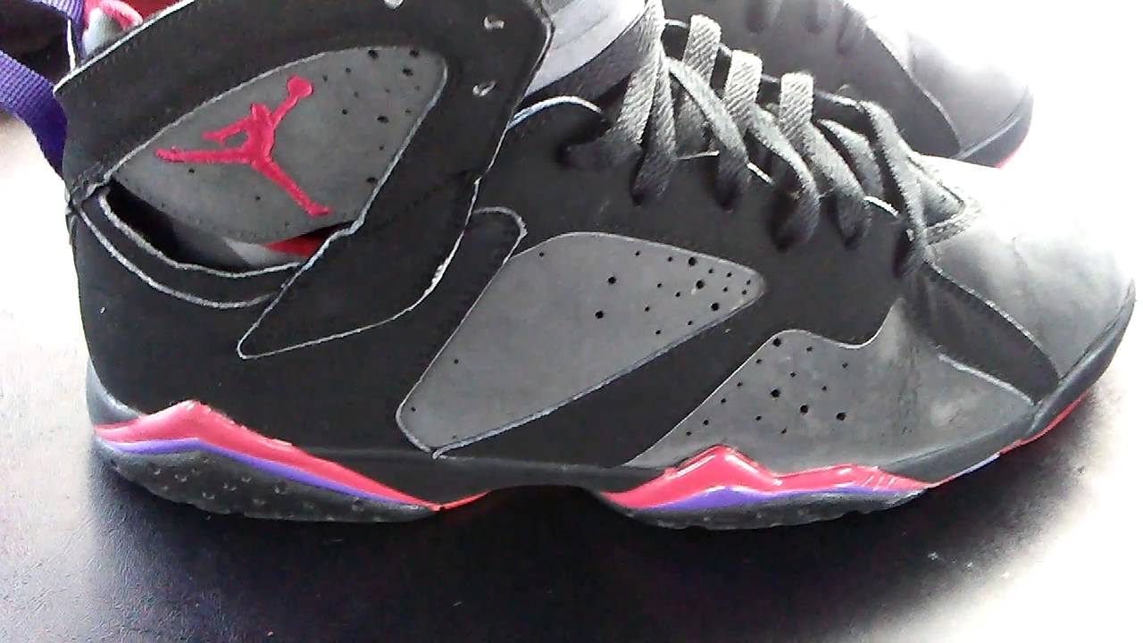 detailed look e48a6 7ed10 ... Air Jordan 7s  Cleaning Raptor 7  Suede Re Dye ...