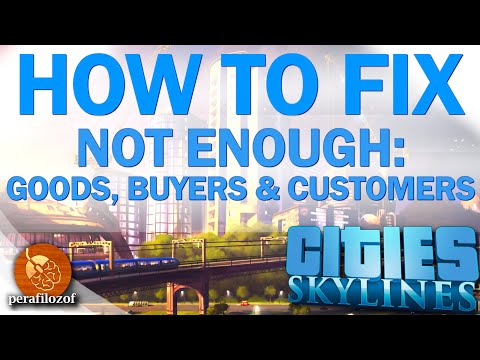🔧 How to fix not enough Goods | Policies Solution tutorial Cities: Skylines Guide #3