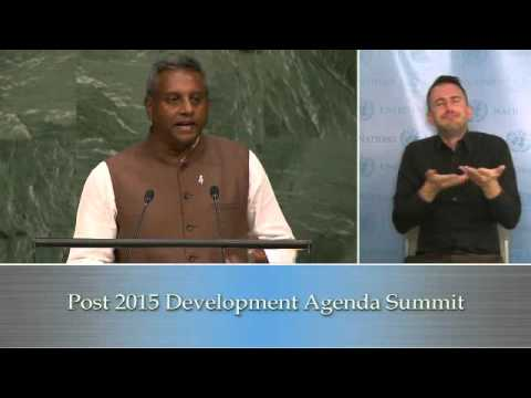 Mr. Salil Shetty - Amnesty International - UN Sustainable Development Summit