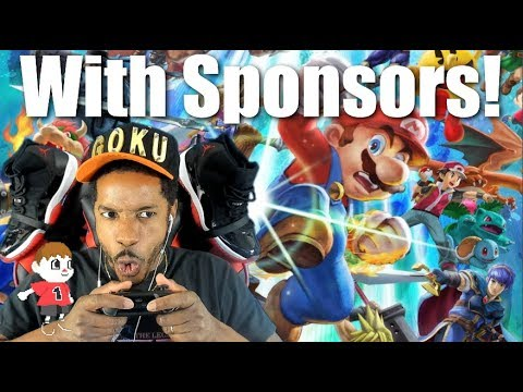 Super Smash Bros Ultimate With Sponsors thumbnail