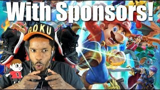 Super Smash Bros Ultimate With Sponsors
