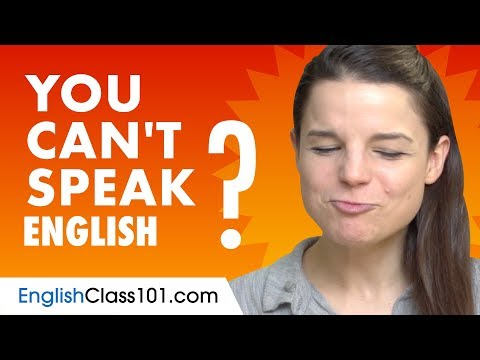 If You Understand English But Can't Speak It...This Video Is For You!