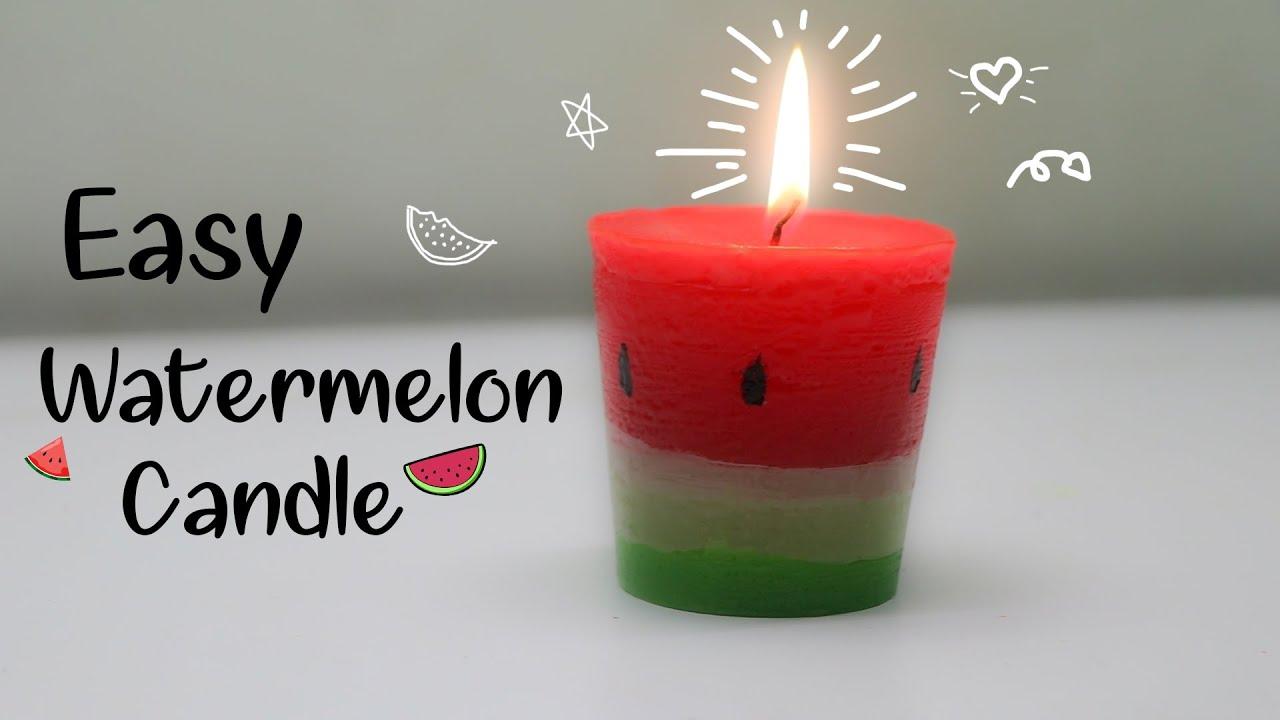 Fantastic DIY WATERMELON CANDLE| diy candle | - YouTube CW58