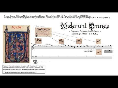 """Leonin: Organum Duplum, """"Viderunt Omnes"""" (comparative Transcription)"""