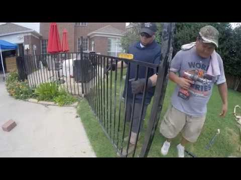Watch us build an IRON FENCE in 2 minutes!