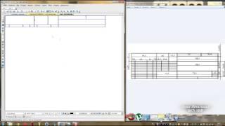 Компас 3D уроки - создание углового штампа чертежа (часть 1/2)