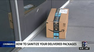How to sanitize your delivered packages