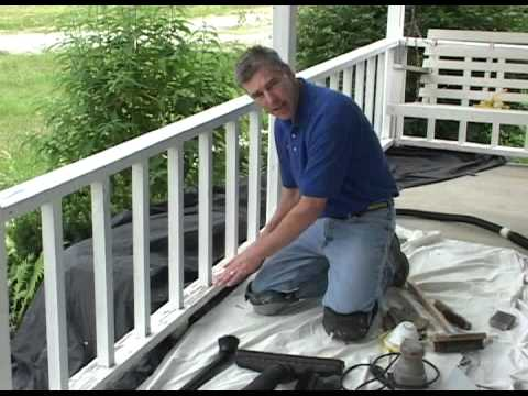 Preparation For Painting Porch Railing Step 2