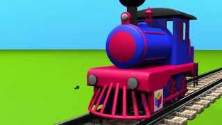 Развивающие мультики про машинки для детей от 3 лет  Конструктор  собираем паровоз