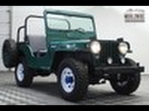 Green 1951 Jeep Willy's CJ3A For Sale