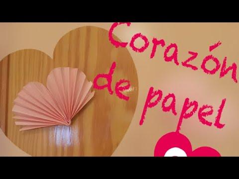 Como hacer corazón de papel decoraciones  San Valentín DIY FÁCIL guirnalda