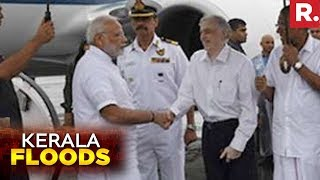 PM Narendra Modi Reaches Kochi, Set To Conduct Aerial Survey | Kerala Floods 2018