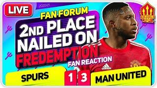 FREDEMPTION, Greenwood & More! Spurs 1-3 Man United   LIVE Fan Forum