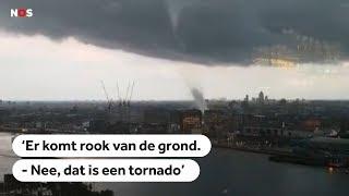 AMSTERDAM: Spectaculaire beelden van windhoos