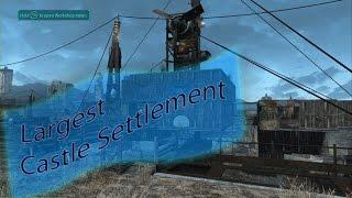 Fallout 4: Biggest Castle Settlement