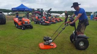 Cut the grass with segway and husqvarna www.segway-peter.de