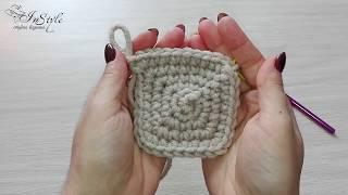 Квадрат. Мотив. Бабушкин квадрат. Вязание крючком (crochet square)