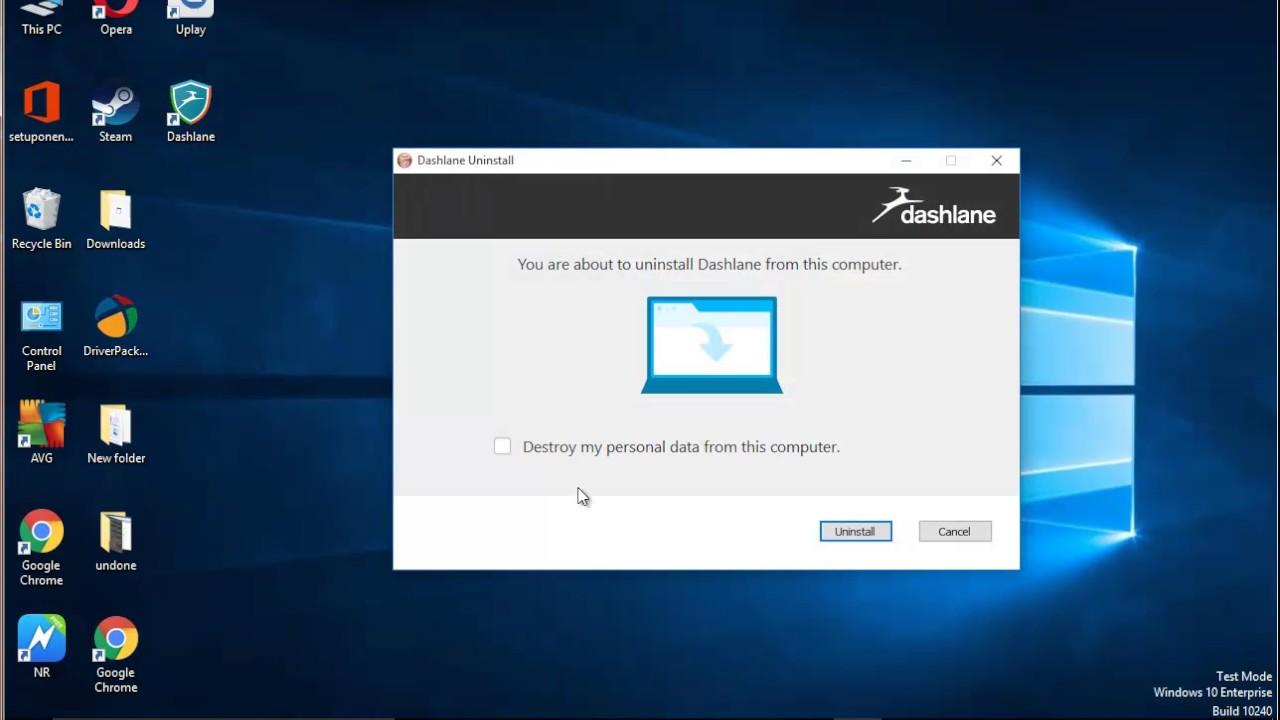 How to Uninstall Dashlane 4 on Windows 10?