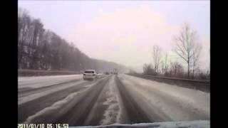 Eispiste statt Autobahn A7 A5